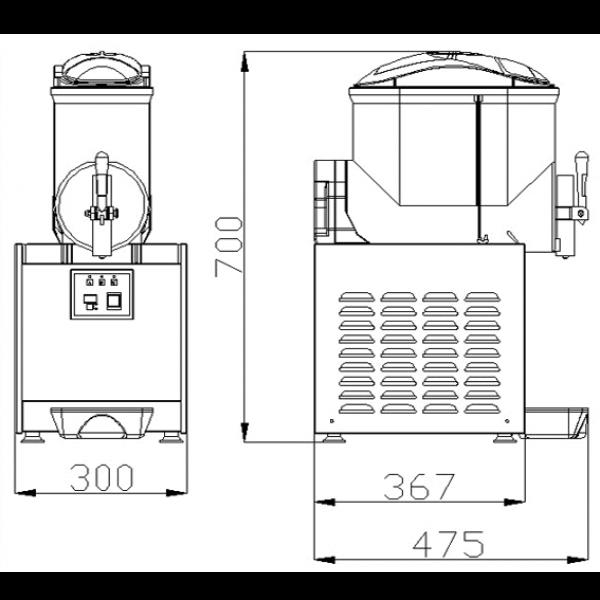 ChromeCater Slush Machine For Sale SC 1