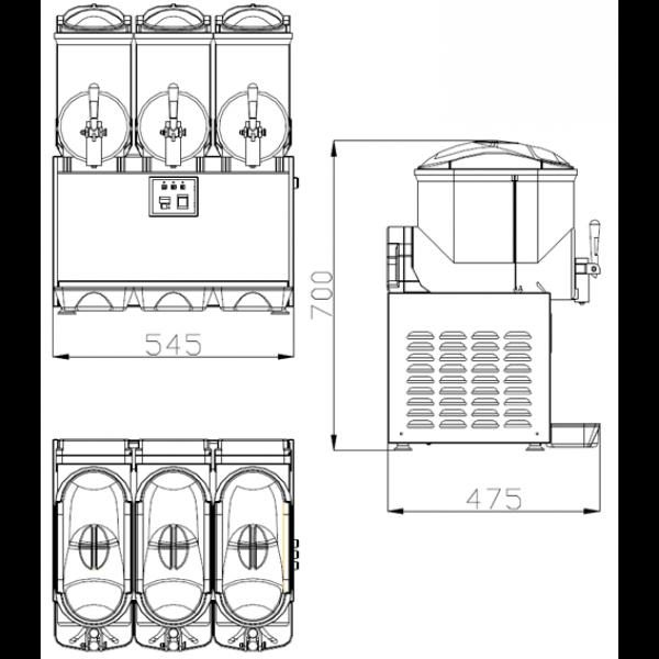 ChromeCater Slush Machine For Sale SC 3
